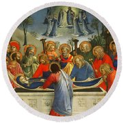The Dormition Of The Virgin Round Beach Towel
