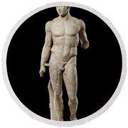 The Doryphoros Of Polykleitos Round Beach Towel