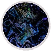The Dragon Behind The Mask  Round Beach Towel