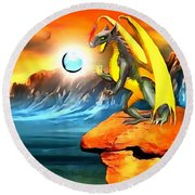 The Dragon Lands Round Beach Towel