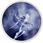 The Dragonfly  Round Beach Towel