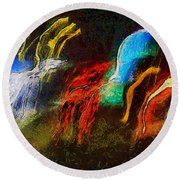 The Dragons Of Desire Round Beach Towel