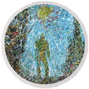 The Drama Of The Earth Round Beach Towel