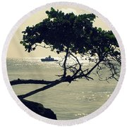 The Dream Still Alive Round Beach Towel