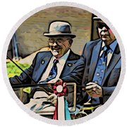 The Drivers Round Beach Towel