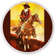 The Drover Round Beach Towel