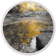 The Dry Creek Bed Round Beach Towel