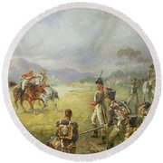 The Duel  Fair Play Round Beach Towel by Robert Alexander Hillingford