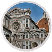 The Duomo And Baptistery Of St. John Round Beach Towel