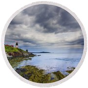 The Eastern Most Point In The U.s.a  Round Beach Towel by Mircea Costina Photography