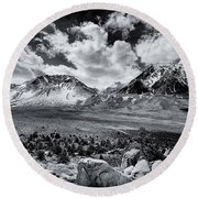 The Eastern Sierra Round Beach Towel