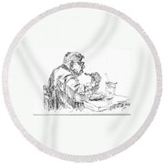The Eater Round Beach Towel