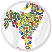 The Egg Round Beach Towel