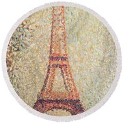 The Eiffel Tower Round Beach Towel