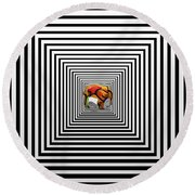 The Elephant In The Room Round Beach Towel