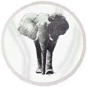 The Elephant Round Beach Towel