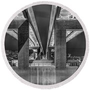 The Elevated Freeway Round Beach Towel