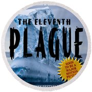 The Eleventh Plague Bookcover Round Beach Towel
