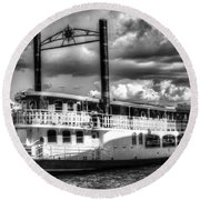 The Elizabethan Paddle Steamer Round Beach Towel