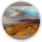 The Elk Trail Round Beach Towel