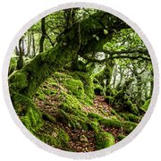 The Elven Forest No2 Wide Round Beach Towel