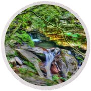 The Emerald Forest 14 Round Beach Towel