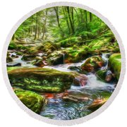The Emerald Forest 15 Round Beach Towel