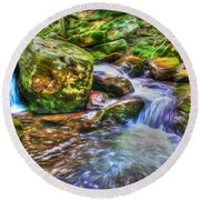 The Emerald Forest 2 Round Beach Towel