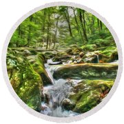 The Emerald Forest 3 Round Beach Towel