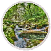 The Emerald Forest 4 Round Beach Towel