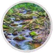 The Emerald Forest 6 Round Beach Towel