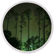 The Emerald Forest Round Beach Towel