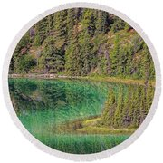 The Emerald Green Waters Of Emerald Round Beach Towel