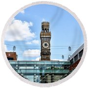 The Emerson Bromo-seltzer Tower Round Beach Towel