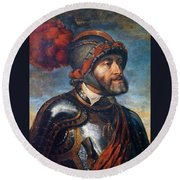 The Emperor Charles V Round Beach Towel