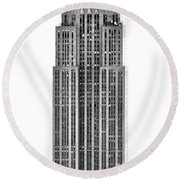The Empire State Building Round Beach Towel by Luciano Mortula