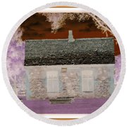 The Enchanted Cottage Round Beach Towel