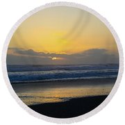 The End Of Day Round Beach Towel