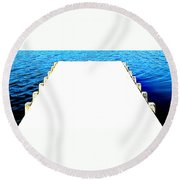 The End Round Beach Towel