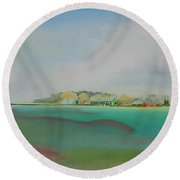 The English Farm   A Break In The Cloud Round Beach Towel