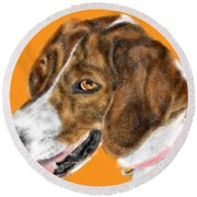 The English Pointer Foxhound Round Beach Towel