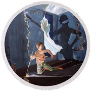 The Entity Of Fear Round Beach Towel