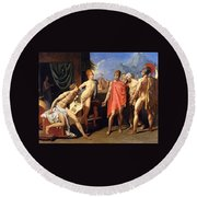 The Envoys Of Agamemnon Round Beach Towel