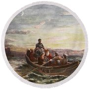 The Escape Of Mary Queen Of Scots Round Beach Towel