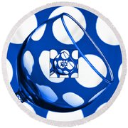 The Eternal Glass Blue Round Beach Towel