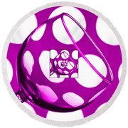 The Eternal Glass Pink Round Beach Towel