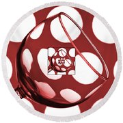 The Eternal Glass Red Round Beach Towel