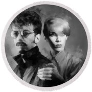 The Eurythmics Round Beach Towel