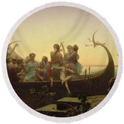 The Evening Round Beach Towel by Charles Gleyre