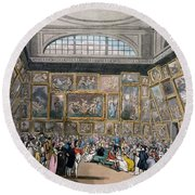 The Exhibition Room At Somerset House Round Beach Towel